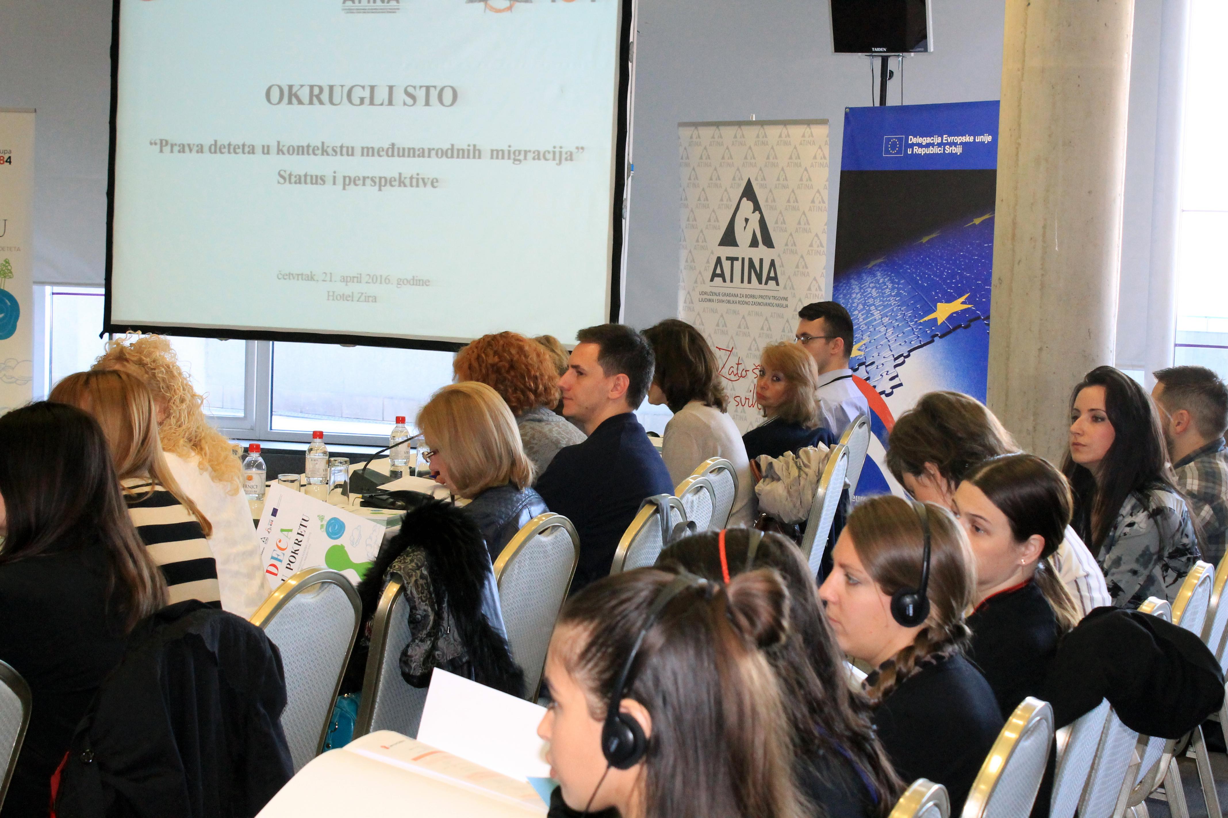 Atina, Save the Children, Grupa 484, Prava deteta u kontekstu međunarodnih migracija